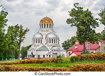 alessandro, nevsky, cattedrale, in, kamianets-podilskyi,...