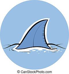 aleta del tiburón, dorsal