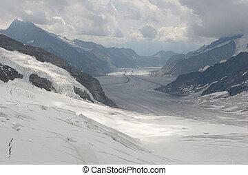 aletsch, παγετών