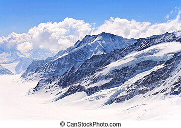 Aletsch alps glacier Switzerland - The Swiss Alps at Great...