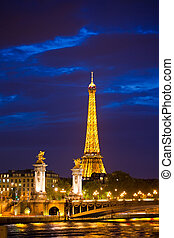 alexander, de, derde, brug, is, populair, touristic,...