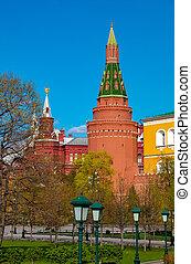 Alexander garden in Moscow, Russia