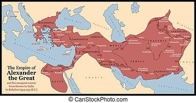 alexander groot, keizerrijk