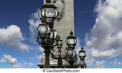 Alexander III bridge-Paris,France - Alexander III bridge -...
