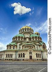 Alexander Nevski Cathedral in Sofia, Bulgaria. HDR image