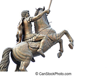 Alexander the Great on a horse in Skopje Macedonia