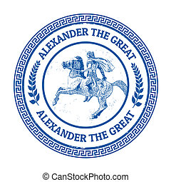 Alexander the Great stamp - Grunge rubber stamp with...