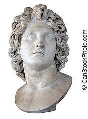 Alexander the Great - Roman marble copy of a portrait of...