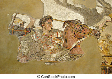 Alexander the Great - Mosaic image of Alexander the Great...