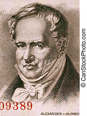Alexander von Humboldt (1769-1859) on 5 Marks 1954 Banknote from East Germany. Prussian geographer, naturalist and explorer.