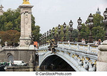 alexandre, フランス, パリ, 橋, iii