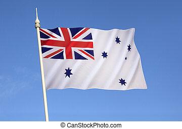 alférez, -, marina, australiano, blanco, real