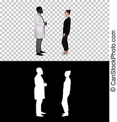 alfa, conhecido, paciente, canal, doutor