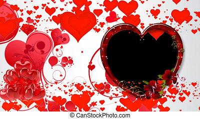 alfa, tło, 12, video, pętla, serca, przelotny, czerwony, ...