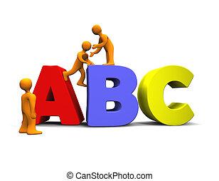 alfabet, 3d