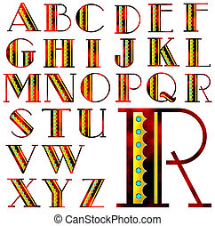 alfabet, alfabet, lettering, ontwerp