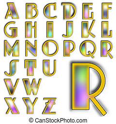 alfabet, alfabet, ontwerp, lettering