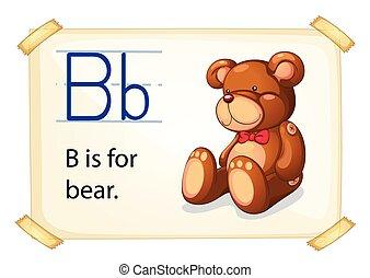alfabet, b