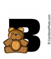 alfabet, b, teddy