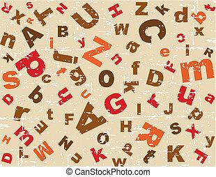 alfabet, bakgrund