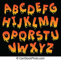 alfabet, beeld, thema, 8