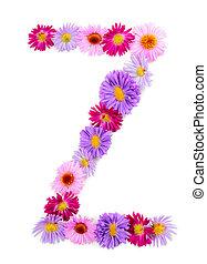 alfabet, bloem