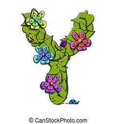 alfabet, bloem, z, wijngaarden