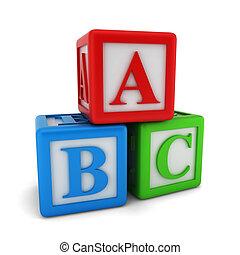 alfabet, blokje
