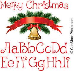 alfabet, boże narodzenie