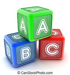 alfabet, bouwstenen