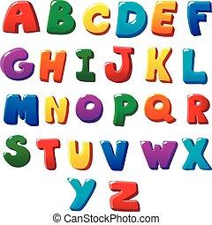 alfabet, brieven