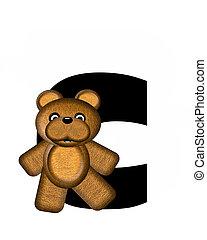 alfabet, c, teddy