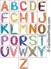 alfabet, cmyk