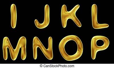alfabet, czarnoskóry, odizolowany, złoty, tło.
