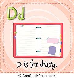 alfabet, d