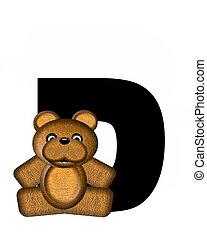 alfabet, d, teddy
