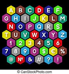 alfabet, dekorativ