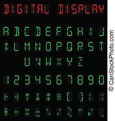 alfabet, digital