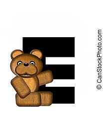 alfabet, e, teddy