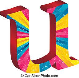 alfabet, gekleurde, de strepen van sterren