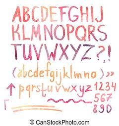 alfabet, getallen