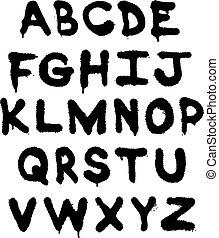 alfabet, graffiti
