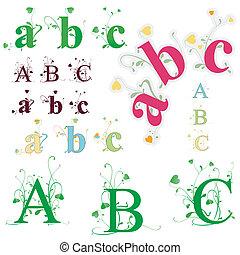 alfabet, groene