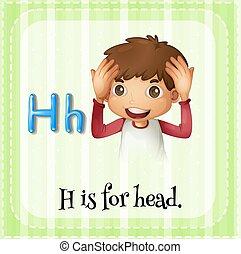 alfabet, h