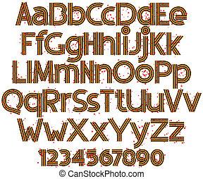 alfabet, in, de, vorm, van, straat. george's, lint