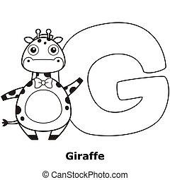 alfabet, kleuren, geitjes, g