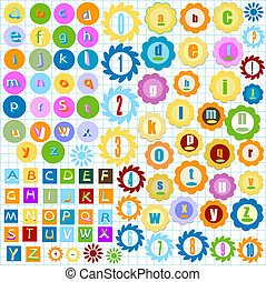alfabet, kleurrijke
