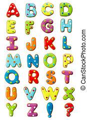 alfabet, koekje