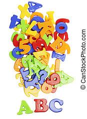 alfabet, lettering