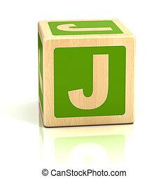 alfabet, lettertype, blokje, brief, j